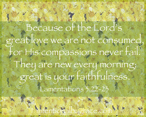 His Mercies Are New Every Morning ~ www.happyunconventionallife.com
