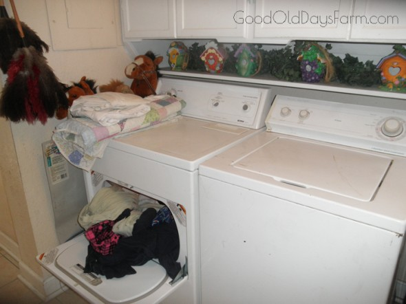 Never ending laundry... ~ GoodOldDaysFarm.com