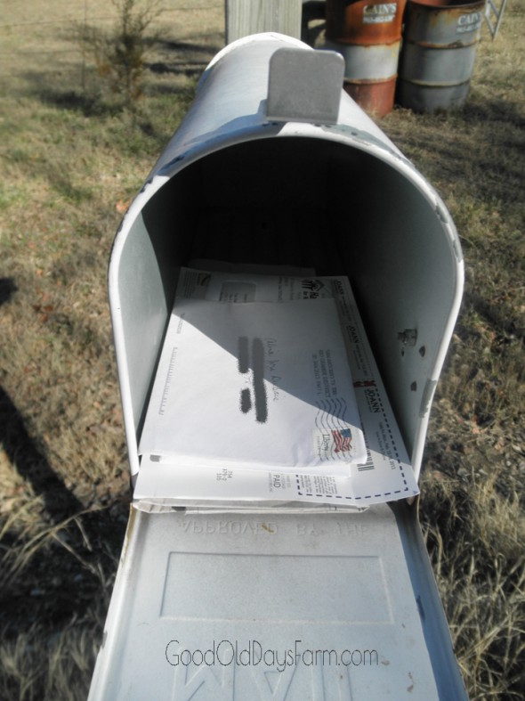 I've Got Mail! ~ GoodOldDaysFarm.com