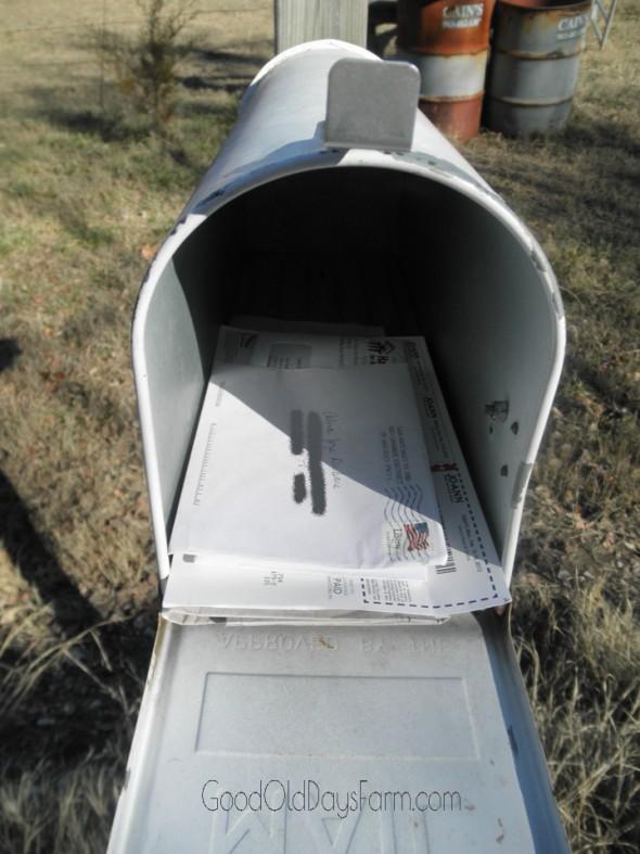 I've Got Mail! ~ GoodOldDaysFarm.com