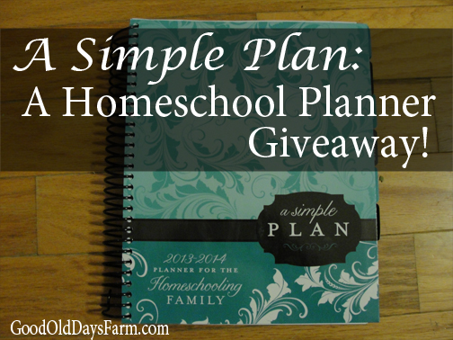 Homeschool Planner Giveaway