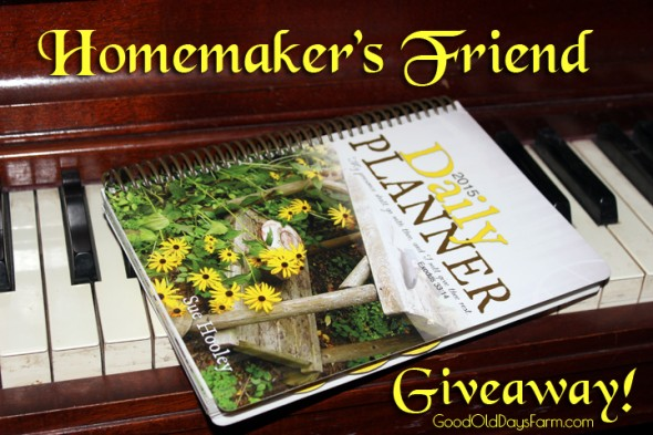 Homemakers Friend Day Planner Giveaway
