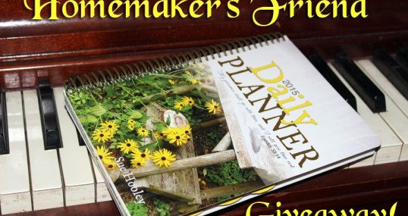 Homemakers Friend Day Planner – Giveaway & Exclusive Coupon Code