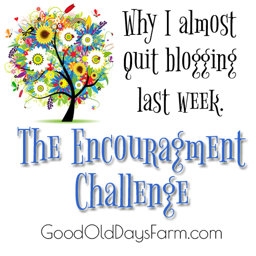Encouragement Challenge from GoodOldDaysFarm.com