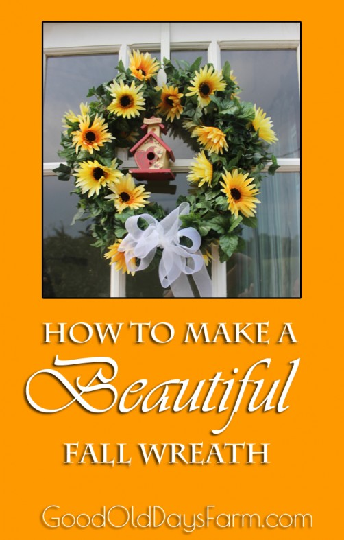 DIY Beautiful Fall Wreath Tutorial