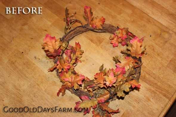 Turn this wreath into a beautiful display with a little tweaking!