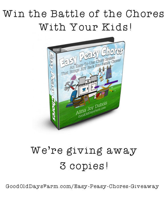 Easy Peasy Chores Giveaway - win the battle of the chores with this complete downloadable chore system