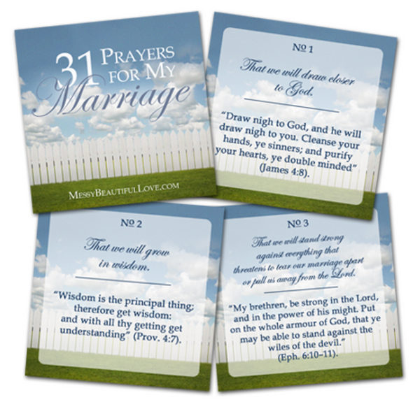 Messy Beautiful Love Prayer Cards