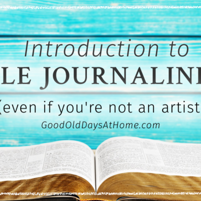 Introduction to Bible Journaling