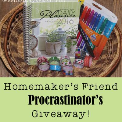 A Giveaway for Procrastinators!