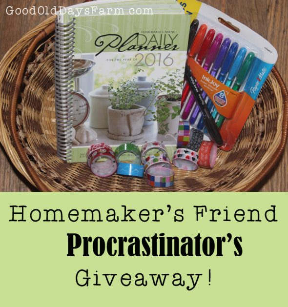 A Giveaway for Procrastinators!