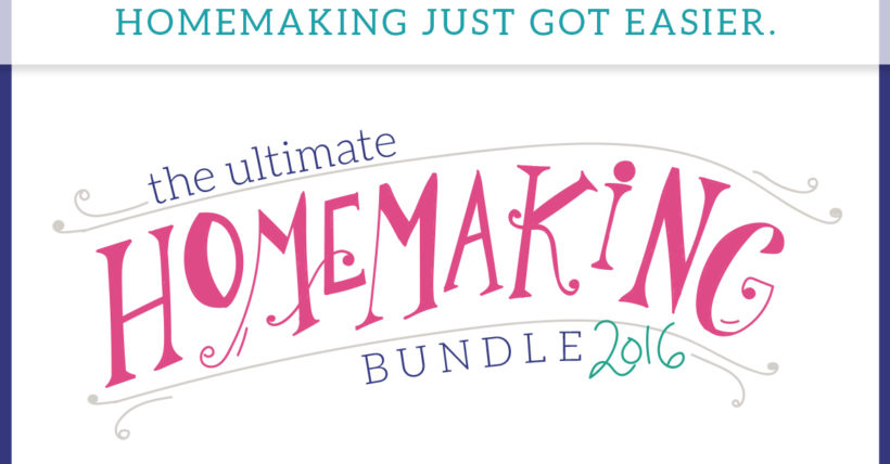 Ultimate Homemaking Ebook Bundle Gave me so many GREAT tools!