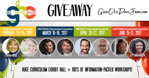 Great Homeschool Conventions Giveaways