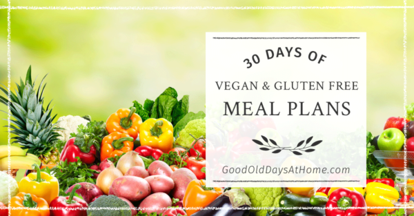 vegan gluten free menu plans,
