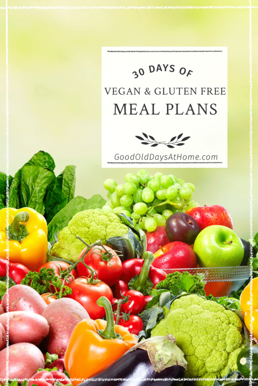 vegan gluten free meal plan