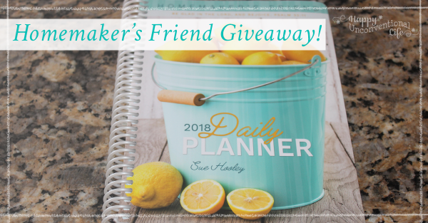 Homemaker's Friend Day Planner Giveaway