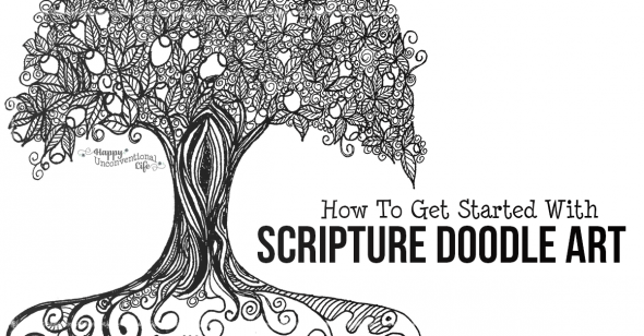 How Anyone Can Get Started with Scripture Doodle Art