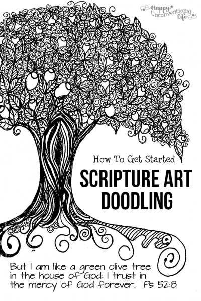 How to Get Started With Scripture Art Doodling